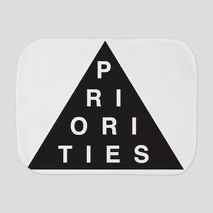 Priorities Triangle Burp Cloth