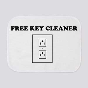 Free Key Cleaner Burp Cloth