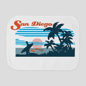 Retro San Diego Surf Burp Cloth