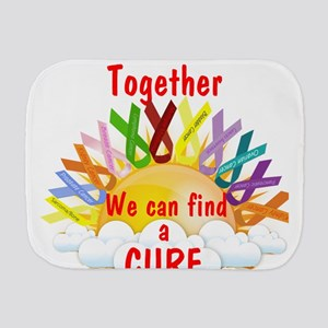 Together we can find a cure Burp Cloth