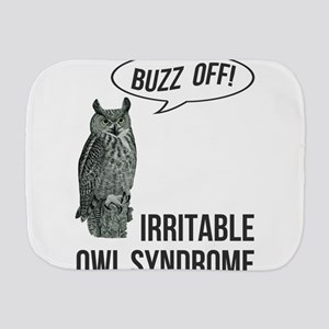 Irritable Owl Syndrome Burp Cloth