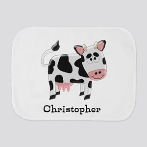 Cow Just Add Name Burp Cloth