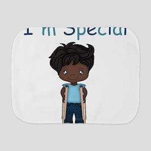 I'm Special - Boy - Dark - Crutches Burp Cloth