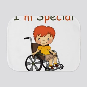 I'm Special - Wheelchair - Boy Burp Cloth
