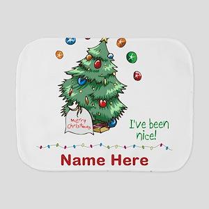Custom Christmas Tree Burp Cloth
