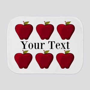 Personalizable Red Apples Burp Cloth