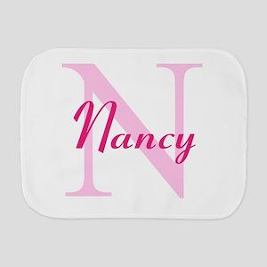 CUSTOM Initial and Name Pink Burp Cloth