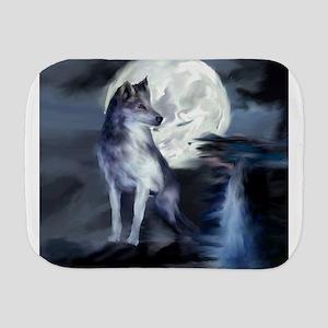 Midnight Wolf Burp Cloth