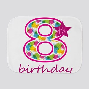 8th Birthday Burp Cloth