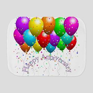 Happy Anniversary Balloons Burp Cloth