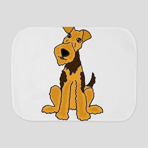 Fun Airedale Dog Art Burp Cloth