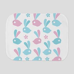 Easter Bunnies Modern Twist Pattern Burp Cloth
