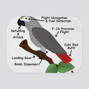 Anatomy of an African Grey Parrot Burp Cloth