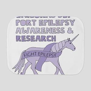 Unicorns Support Epilepsy Awareness Burp Cloth