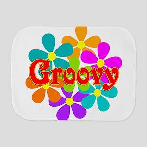 Fun Groovy Flowers Burp Cloth