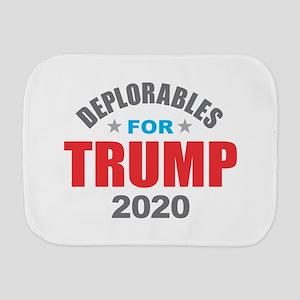 Deplorables for Trump 2020 Burp Cloth