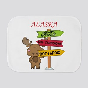 Alaska Moose What Way To The North Pole Burp Cloth