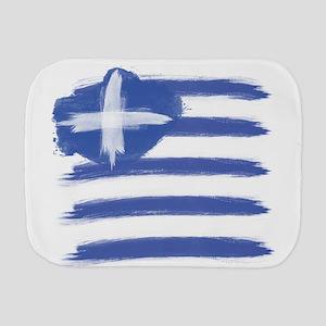 Greece Flag greek Burp Cloth