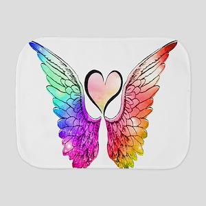 Angel Wings Heart Burp Cloth