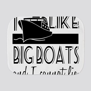 I Like Big Boats Burp Cloth