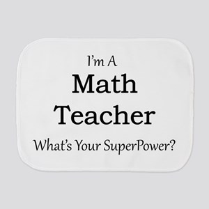 Math Teacher Burp Cloth