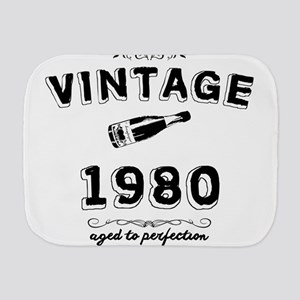 vintage 1980 aged to perfection Burp Cloth