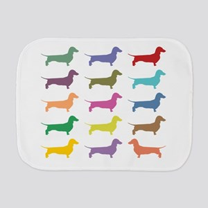 Colorful Dachshunds Burp Cloth