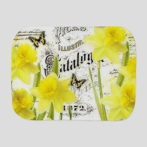 Vintage daffodils Burp Cloth