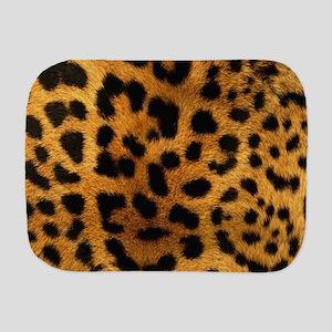 girly trendy leopard print Burp Cloth