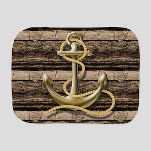 shabby chic vintage anchor Burp Cloth