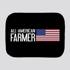 Farmer: All-American (Black) Burp Cloth