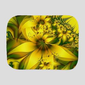 Beautiful Yellow-Green Meadow of Daffod Burp Cloth