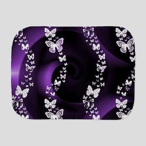Purple Butterfly Swirl Burp Cloth