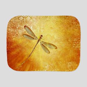 Golden dragonfly Burp Cloth