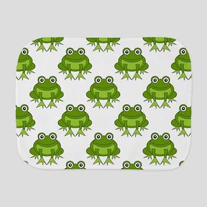 Cute Happy Frog Pattern Burp Cloth