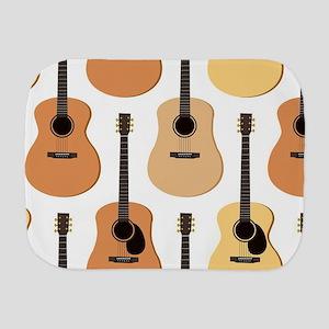 Acoustic Guitars Pattern Burp Cloth