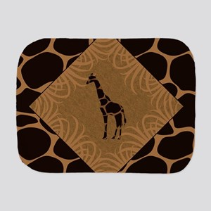 Giraffe with Animal Print Burp Cloth