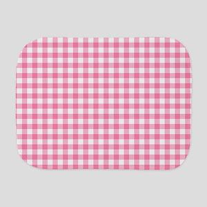 Pink Gingham Pattern Burp Cloth