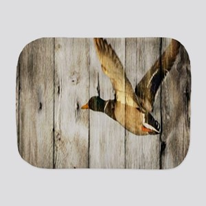 western barnwood wild duck Burp Cloth