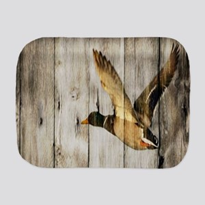 rustic western wood duck Burp Cloth