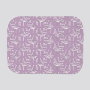 Abstract Dandelions on Pastel Lavender Burp Cloth