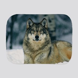 Wolf In The Snow Burp Cloth