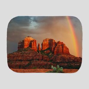 Rainbow In Grand Canyon Burp Cloth