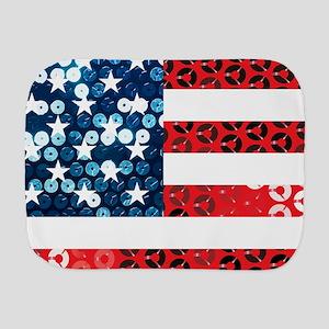 usa flag heart Burp Cloth