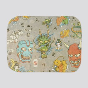 Japanese Collage Burp Cloth
