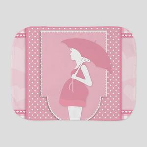 pink pregnancy Burp Cloth