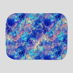 Azure Blue Crumpled Pattern Marble Burp Cloth