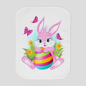 Pink Easter Bunny Burp Cloth