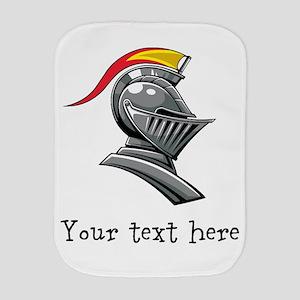 Customizable Knights Helmet Burp Cloth