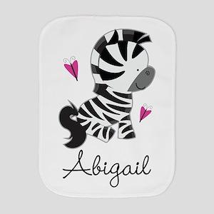 Zebra Animal Personalized Burp Cloth